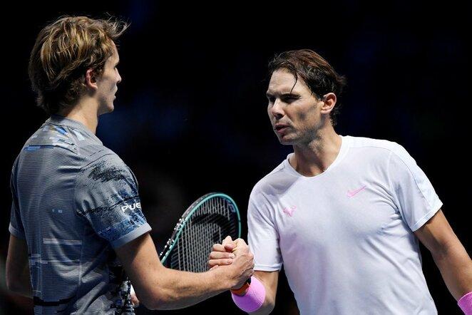 Alexanderis Zverevas ir Rafaelis Nadalis | Scanpix nuotr.