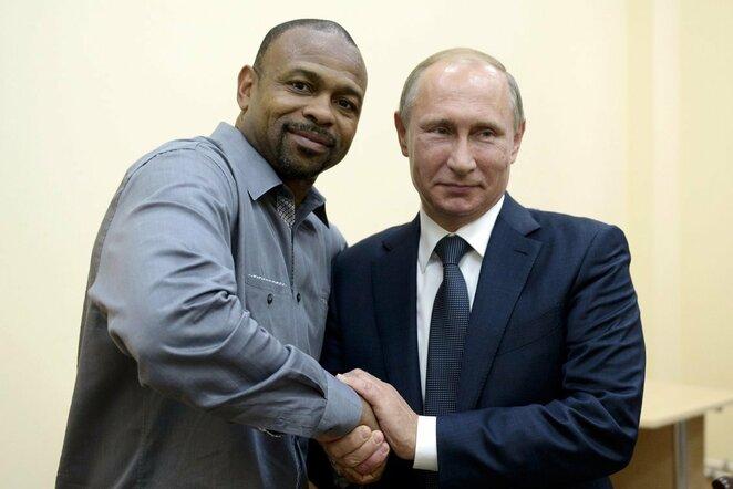 Roy Jonesas ir Vladimiras Putinas | Scanpix nuotr.