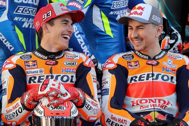 Marcas Marquezas ir Jorge Lorenzo | Scanpix nuotr.