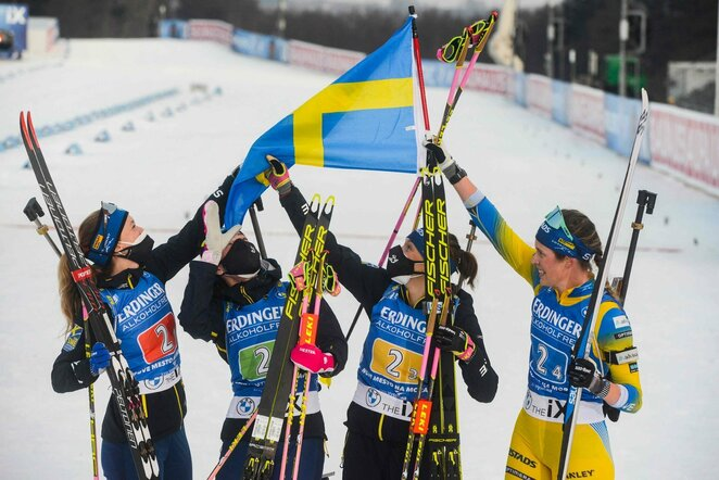 Švedijos moterų biatlono rinktinė | Scanpix nuotr.