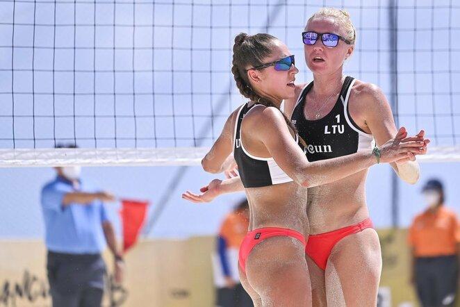 Ieva Dumbauskaitė ir Gerda Grudzinskaitė turnyre Kankune | FIVB nuotr.
