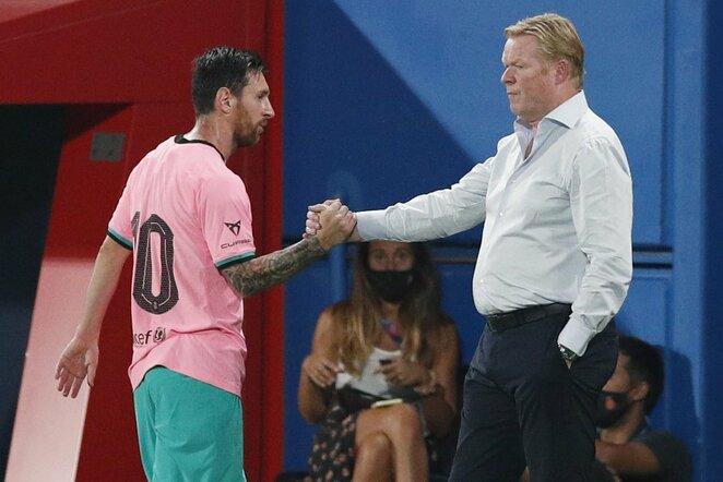 Lionelis Messi ir Ronaldas Koemanas | Scanpix nuotr.