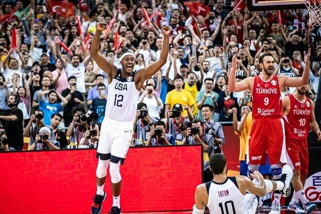 JAV –Turkija rungtynių akimirka | FIBA nuotr.