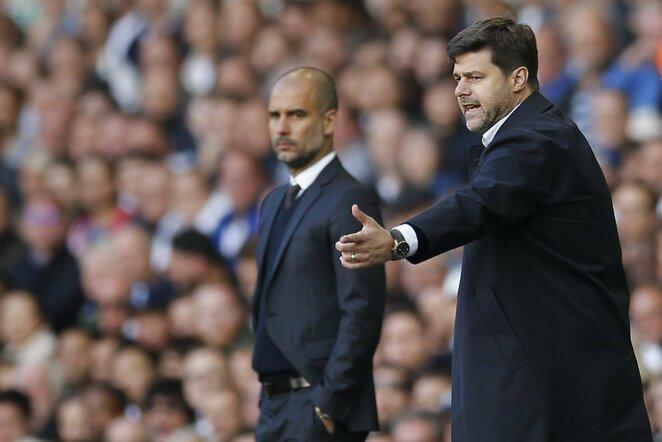 P.Guardiola ir M.Pochettino | Scanpix nuotr.