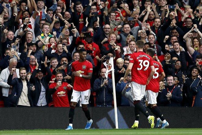 """Manchester United"" ir Londono ""Chelsea"" rungtynių akimirka | Scanpix nuotr."