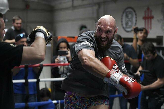 Tysonas Fury surengė atvirą treniruotę | Scanpix nuotr.