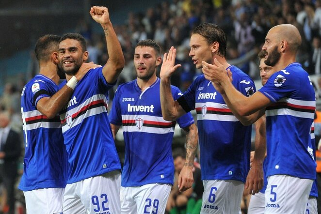 """Sampdoria"" – ""Napoli"" rungtynių akimirka  | Scanpix nuotr."