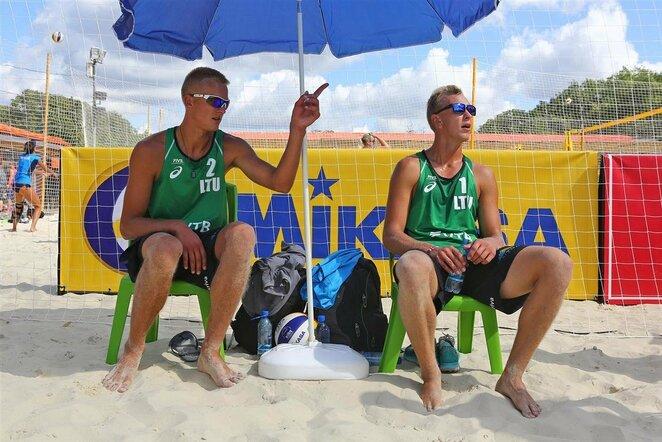 Arnas Rumševičius ir Lukas Každailis   FIVB nuotr.