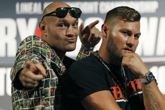 Tysonas Fury ir Tomas Schwarzas | Scanpix nuotr.