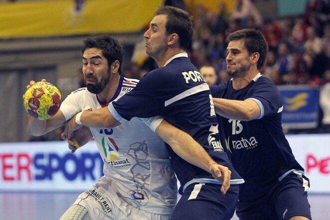Prancūzijos - Argentinos rungtynių akimirka   EFE/Scanpix nuotr.