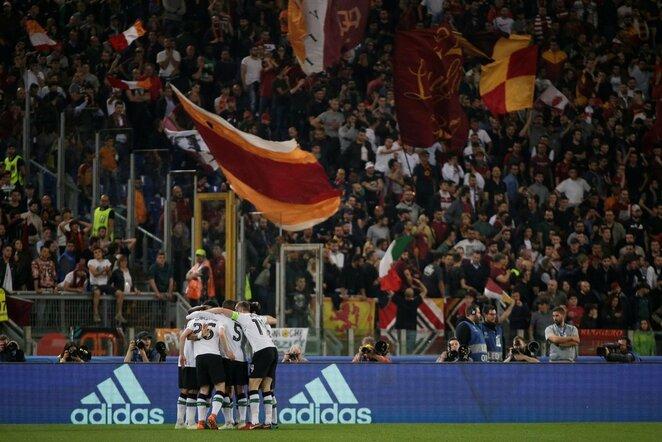 """UEFA Čempionų lygos pusfinalis: """"Roma"""" - """"Liverpool"""" (2018.05.02)   Scanpix nuotr."""
