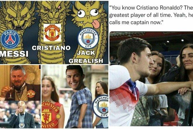 """Geriausi internautų pokštai po sensacingo C.Ronaldo sugrįžimo į """"Man United""""   """"Twitter"""" nuotr."""