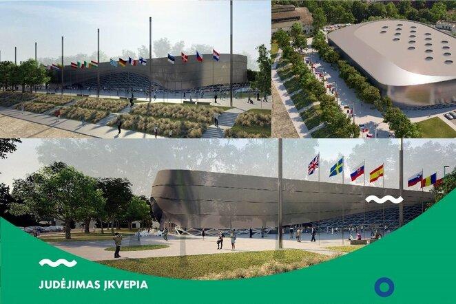 Kaune iškils moderniausias šalyje lengvosios atletikos maniežas   Organizatorių nuotr.