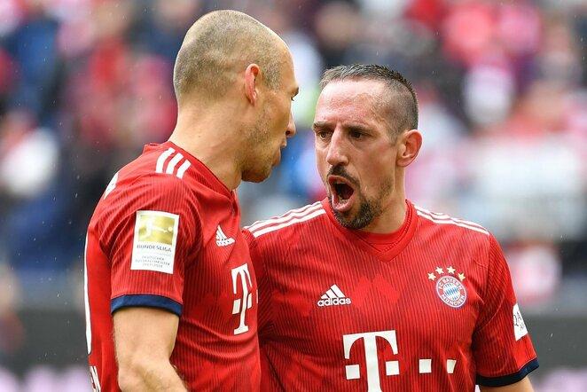 Arjenas Robbenas ir Frankas Ribery   Scanpix nuotr.