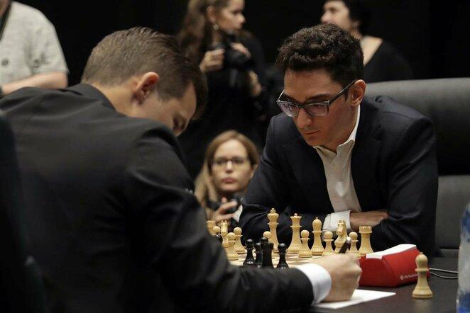 Magnusas Carlsenas prieš Fabiano Caruaną   Scanpix nuotr.