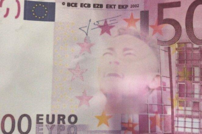 Netikras banknotas su Neymaro atvaizdu | Organizatorių nuotr.