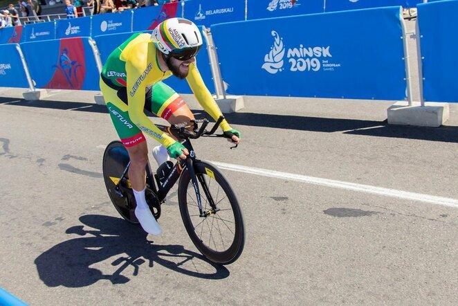 Europos žaidynių plento dviračių atskiro starto lenktynės   Kipro Štreimikio nuotr.