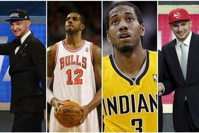 Kaip atrodytų kiekvienos NBA komandos starto penketas, sudarytas tik iš jų pašauktų žaidėjų? | Scanpix nuotr.