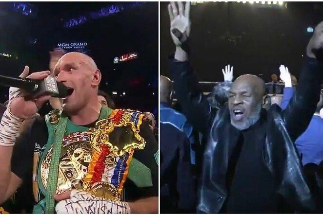 Tysonas Fury ir Mike'as Tysonas | Organizatorių nuotr.