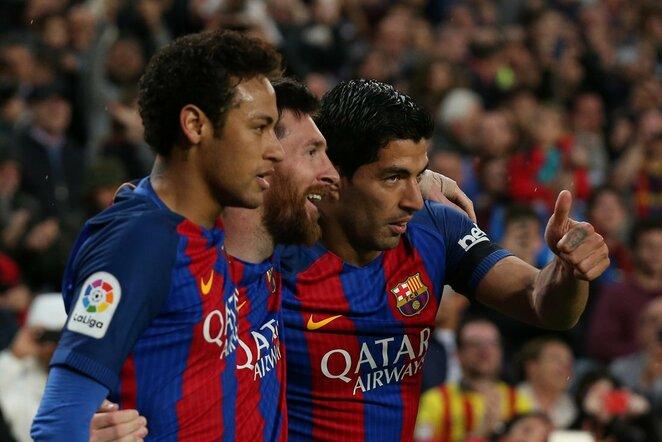 Neymaras, Lionelis Messi ir Luisas Suarezas | Scanpix nuotr.