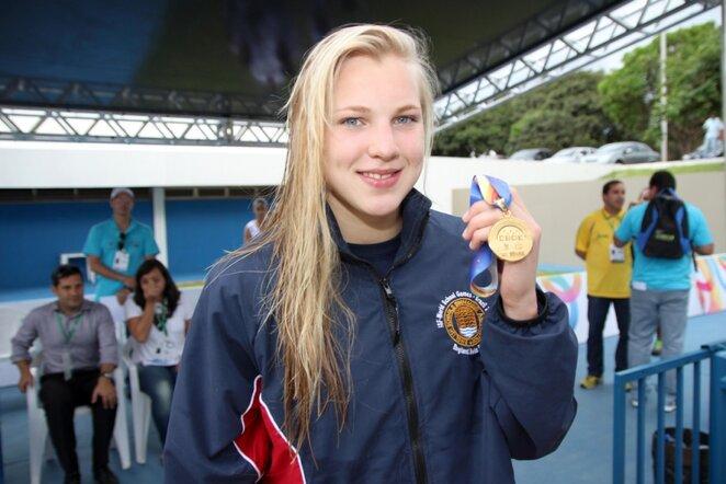 Rūta Meilutytė | gymnasiade-brasilia2013.com/Marcoso Borgeso nuotr.
