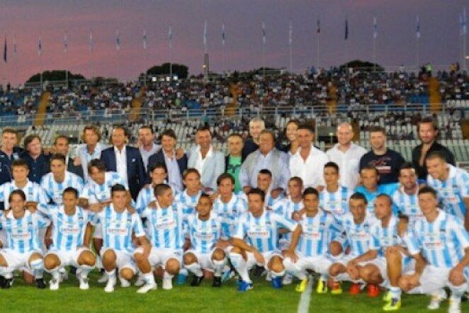 """""""Pescara"""" klubo žaidėjai   www.pescaracalcio.com nuotr."""