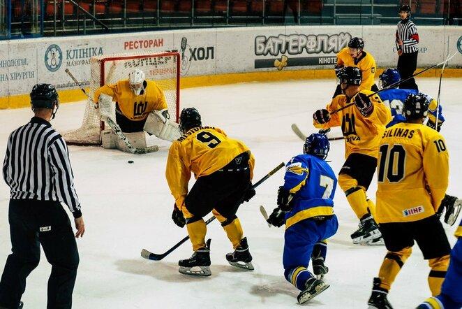 Lietuvių ir ukrainiečių rungtynės   hockey.lt nuotr.