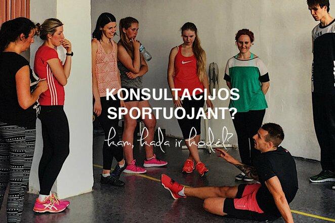 Konsultacijos sportuojant: kam, kada ir kodėl? | Organizatorių nuotr.
