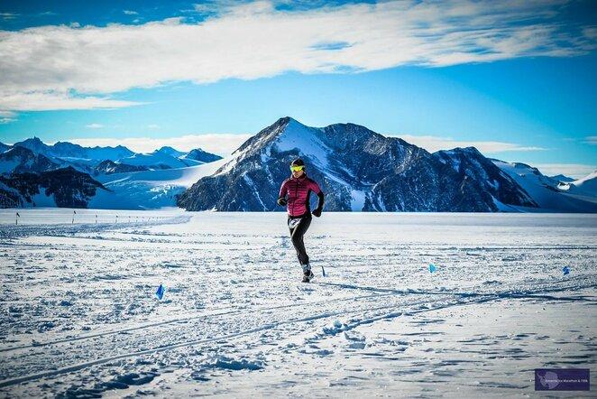 Bėgimas Antarktidoje | Organizatorių nuotr.