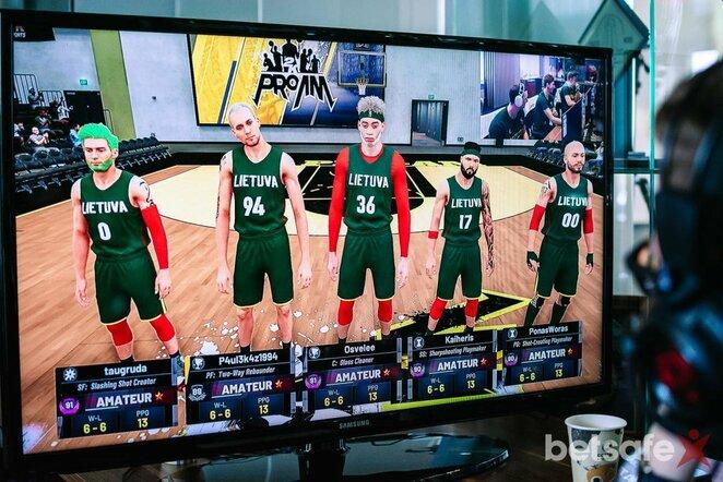 Lietuviai NBA2k žaidime | krepsinionamai.lt nuotr.