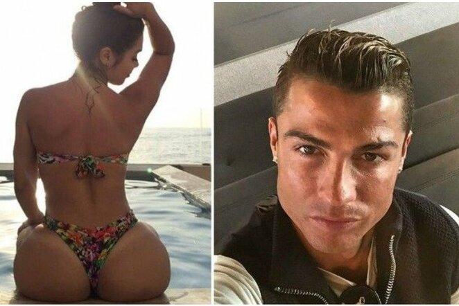 Alexandra Mendez ir Cristiano Ronaldo   Instagram.com nuotr