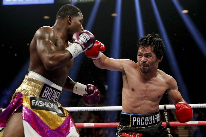 Manny Pacquiao prieš Adrieną Bronerį | Scanpix nuotr.
