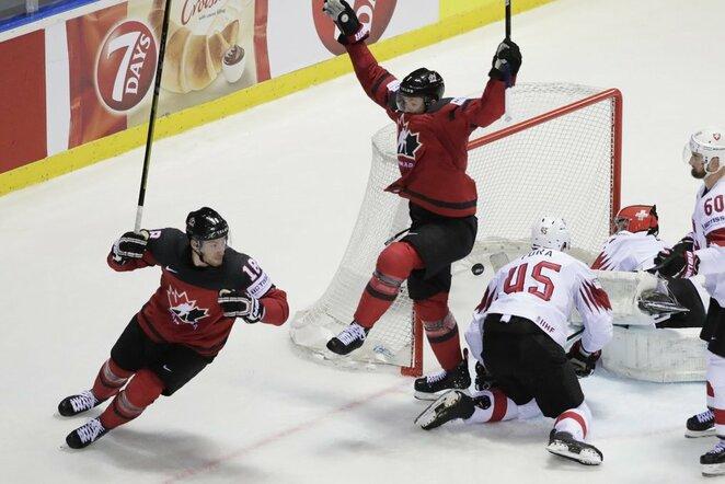 Kanados – Šveicarijos rungtynių akimirka | Scanpix nuotr.