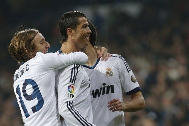 Cristiano Ronaldo džiaugiasi pelnytu įvarčiu | Reuters/Scanpix nuotr.