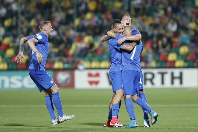Slovakijos rinktinės futbolininkai | Scanpix nuotr.