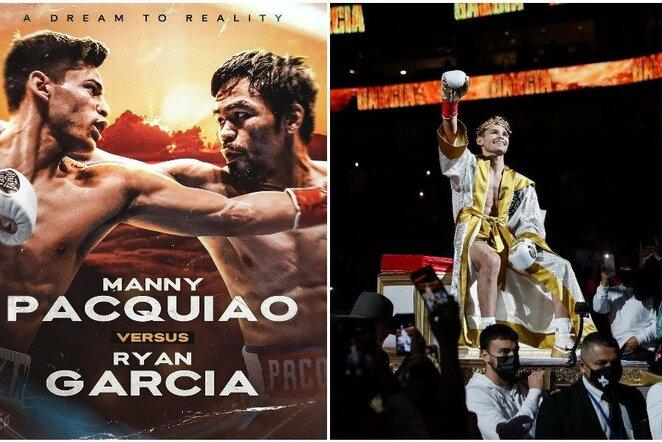 "Ryanas Garcia ir Manny Pacquiao | ""Scanpix"" ir instagram.com nuotr."