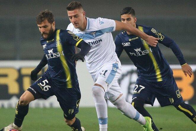 """""""Chievo"""" – """"Lazio"""" rungtynių akimirka    Scanpix nuotr."""