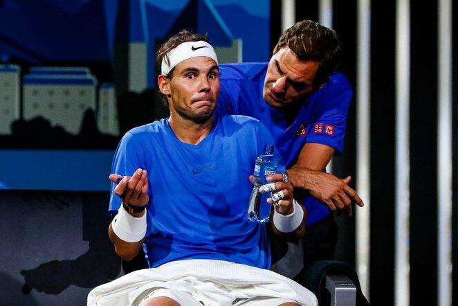 Rafaelis Nadalis ir Rogeris Federeris   Scanpix nuotr.