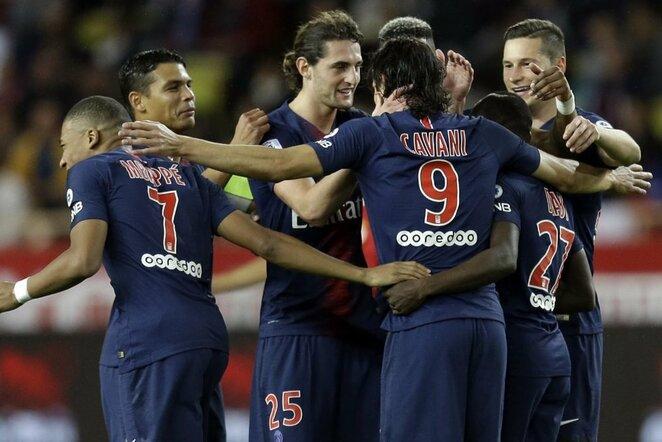 """""""Monaco"""" – PSG rungtynių akimirka    Scanpix nuotr."""