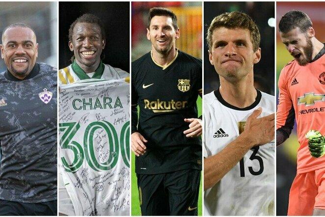 """Ištikimiausi pastarojo dešimtmečio pasaulio futbolininkai   """"Scanpix"""" ir instagram.com nuotr."""