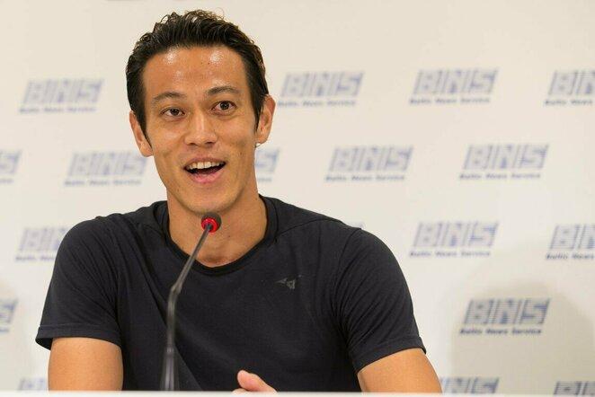 Keisuke Hondos spaudos konferencija | Elvio Žaldario nuotr.
