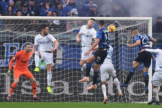 "Italijos ""Serie A"": ""Atalanta"" - Milano ""Inter""   Scanpix nuotr."