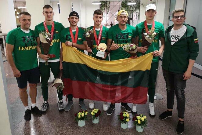 """Lietuvos """"3x3"""" krepšinio jaunių rinktinė l Manto Stankevičiaus nuotr."""