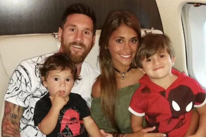 Lionelis Messi su šeima | Instagram.com nuotr