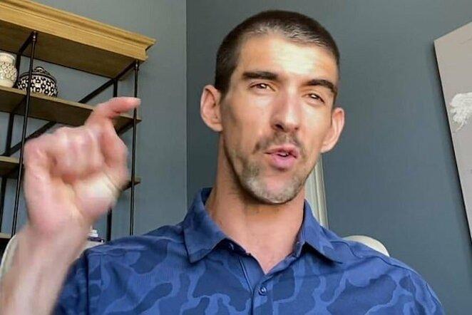 """Michaelas Phelpsas   """"Stop"""" kadras"""