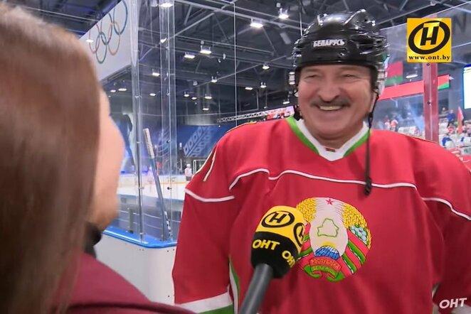 Aleksandras Lukašenka   Youtube.com nuotr.