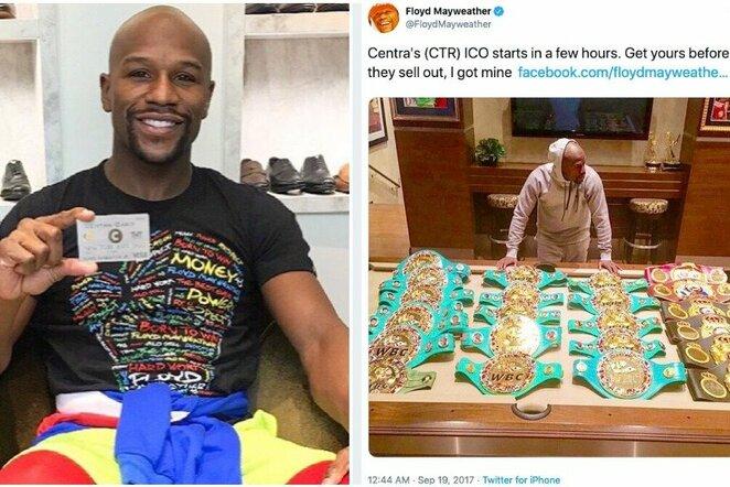 Floydo Mayweatherio ragininmai pirkti CTR žetonus   Instagram.com nuotr