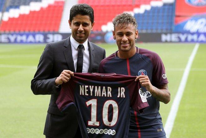 Nasser Al-Khelaifi ir Neymaras | Scanpix nuotr.