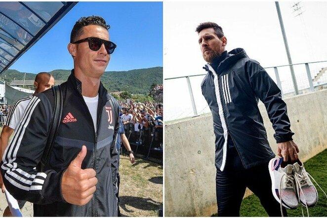 Cristiano Ronaldo ir Lionelis Messi   Instagram.com nuotr