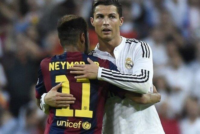 Neymaras ir Cristiano Ronaldo | AFP/Scanpix nuotr.